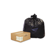 Webster RNW4320 Recycled Can Liners, 56-Gal., 2.0 Mil, 43 X 47, Black, 100/Carton