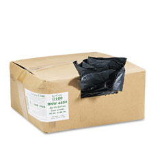 Webster RNW4850 Recycled Can Liners, 40-45 Gal, 1.25 Mil, 40 X 46, Black, 100/Carton