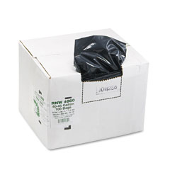 Webster RNW4860 Recycled Can Liners, 45 Gal, 1.8 Mil, 40 X 46, Black, 100/Carton