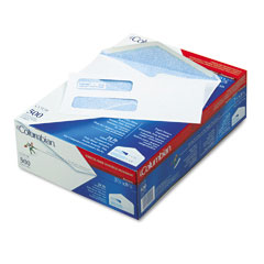 Mead Westvaco WEVCO158 Dubl-Vue Poly-Klear Double Window Envelope/Tint, #8-5/8, White, 500/Box