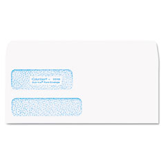 Mead Westvaco WEVCO168 Dubl-Vue Poly-Klear Double Window Envelope, 3 7/8 x 8 7/8, White, 500/Box