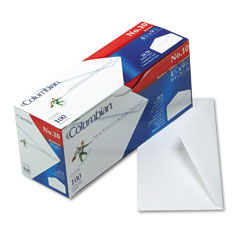 Mead Westvaco WEVCO196 Gummed Flap Business Envelope, V-Flap, #10, White, 100/Box