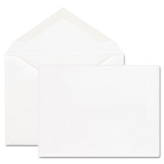 Mead Westvaco WEVCO298 Greeting Card Envelopes, 5-3/4 x 8-3/4, White, 100/Box
