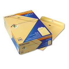 Mead Westvaco WEVCO497 Clasp Envelope, Side Seam, 10 x 13, Manila, 100/Box