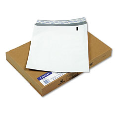 Mead Westvaco WEVCO833 DuraShield Security Open End Poly Envelopes, 10 x 13, White, 100/Box