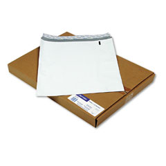 Mead Westvaco WEVCO835 DuraShield Security Open End Poly Envelopes, 12 x 15-1/2, White,100/Box