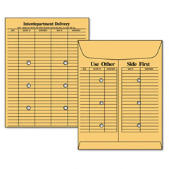 Mead Westvaco WEVCO881 Re-Use-A-Seal Interoffice Envelopes, Recycled, 10 x 13, Brown Kraft, 50/Box