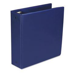 "Wilson Jones 368-49NBL Basic Vinyl Round Ring Binder, 3"" Capacity, Dark Blue"
