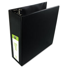 Wilson jones - basic vinyl d-ring binder, 3-inch capacity, black, sold as 1 ea