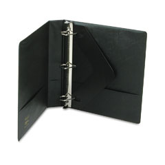 Wilson jones - heavy-duty no-gap d-ring binder with label holder, 1-1/2-inch capacity, black, sold as 1 ea
