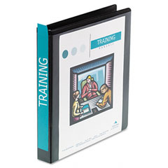 Wilson jones - heavy-duty d-ring vinyl view binder, 1-inch capacity, black, sold as 1 ea