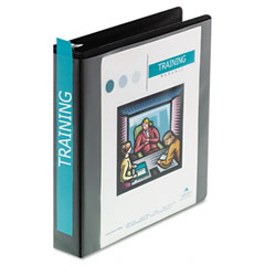 Wilson jones - heavy-duty d-ring vinyl view binder, 1-1/2-inch capacity, black, sold as 1 ea