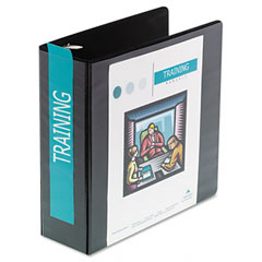 Wilson jones - heavy-duty d-ring vinyl view binder, 3-inch capacity, black, sold as 1 ea