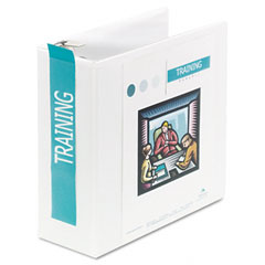 Wilson jones - heavy-duty d-ring vinyl view binder, 4-inch capacity, white, sold as 1 ea