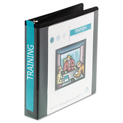 Wilson jones - basic d-ring vinyl view binder, 1-1/2-inch capacity, black, sold as 1 ea