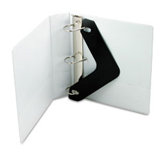 Wilson jones - basic d-ring vinyl view binder, 2-inch capacity, white, sold as 1 ea