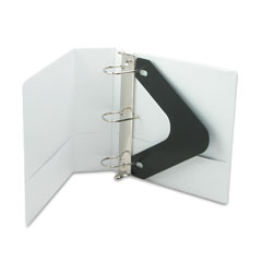 Wilson jones - basic d-ring vinyl view binder, 3-inch capacity, white, sold as 1 ea