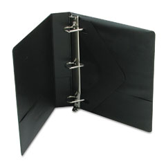 Wilson jones - basic d-ring vinyl view binder, 4-inch capacity, black, sold as 1 ea
