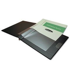 "Wilson Jones 46050 Custom Imprint Presentation Binder, 1/2"" Capacity, Black"