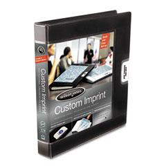 "Wilson Jones 46100 Custom Imprint Presentation Binder, 1"" Capacity, Black"