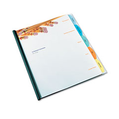 Gbc Quartet 55766 Polypropylene View-Tab Report Cover, Binding Bar, Letter, Holds 40 Pages, Clear