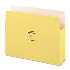 ColorLife 3 1/2 Inch Expansion Pocket, Straight Tab, Letter, Yellow, 25/Box