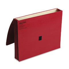 Wilson Jones 719-4R Colorlife Three Inch Expansion Wallets With Velcro Gripper, Letter, Red