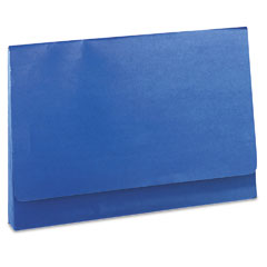 Wilson Jones 722-4BL Colorlife Three Inch Expansion Wallets With Velcro Gripper, Legal, Dark Blue