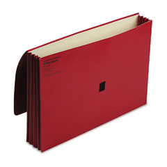 Wilson Jones 722-4R Colorlife Three Inch Expansion Wallets With Velcro Gripper, Legal, Red