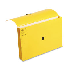 Wilson jones - colorlife three inch expansion wallets with velcro gripper, legal, yellow, sold as 1 ea