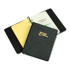 "Wilson Jones 812B Looseleaf Phone/Address Book, 1"" Capacity, 5-1/2 X 8-1/2, Black Vinyl"