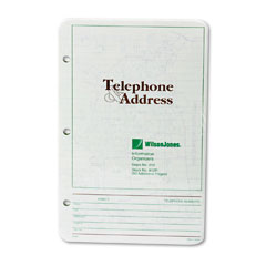 Wilson Jones 812R Looseleaf Phone/Address Book Refill, 5-1/2 X 8-1/2, 80 Sheets/Pack