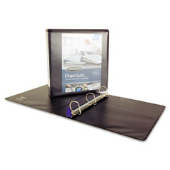 Wilson jones - professional plus no-gap vinyl view d-ring binder, 1-1/2-inch capacity, black, sold as 1 ea