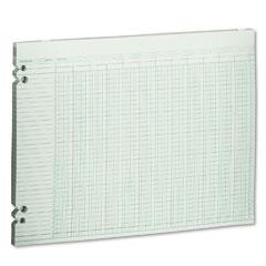 Wilson jones - accounting sheets, 20 columns, 11 x 14, 100 loose sheets/pack, green, sold as 1 pk