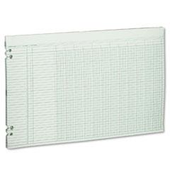 Wilson jones - accounting sheets, 12 columns, 11 x 17, 100 loose sheets/pack, green, sold as 1 pk