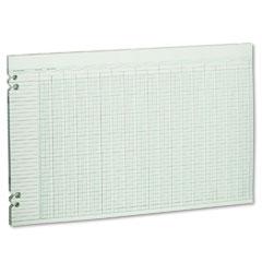 Wilson jones - accounting sheets, 30 columns, 11 x 17, 100 loose sheets/pack, green, sold as 1 pk