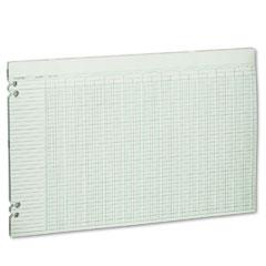 Wilson jones - accounting sheets, 36 columns, 11 x 17, 100 loose sheets/pack, green, sold as 1 pk