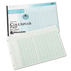 Wilson jones - accounting pad, 13 eight-unit columns, 11 x 16 3/8, 50-sheet pad, sold as 1 pd