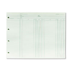 Wilson jones - accounting, 9-1/4 x 11-7/8, 100 loose sheets/pack, sold as 1 pk