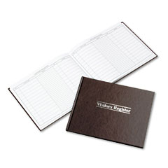 Wilson jones - visitor register book, red hardcover, 112 pages, 8 1/2 x 11 1/2, sold as 1 ea