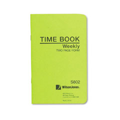 Wilson jones - foreman's time book, week ending, 4-1/8 x 6-3/4, 36-page book, sold as 1 ea