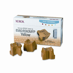 Xerox - 108r00725 solid ink stick, 3400 page-yield, 3/box, yellow, sold as 1 bx