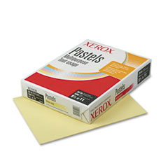 Xerox - multipurpose pastel colored paper, 20-lb, letter, yellow, 500 sheets/ream, sold as 1 rm