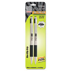 Zebra - f-301 retractable ballpoint pen, black ink, fine, 2 per pack, sold as 1 pk