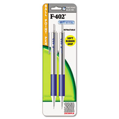Zebra - f-402 ballpoint retractable pen, blue ink, fine, 2/pk, sold as 1 ea