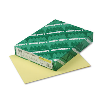 Exact Index Card Stock, 90 lbs., 8-1/2 x 11, Canary, 250 Sheets/Pack