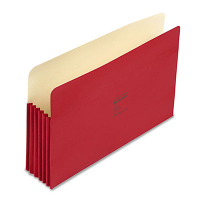 ColorLife 5 1/4 Inch Expansion File Pocket, Straight Tab, Legal, Red, 10/Box