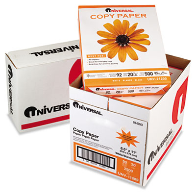 Copy Paper Convenience Carton, 92 Brightness, 20lb, 8-1/2 x 11, White, 2500/Ctn