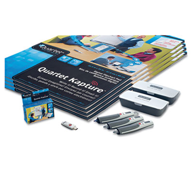 Kapture Digital Flipchart Premium Kit, 3 Pens, 4 Flipcharts, USB Receiver