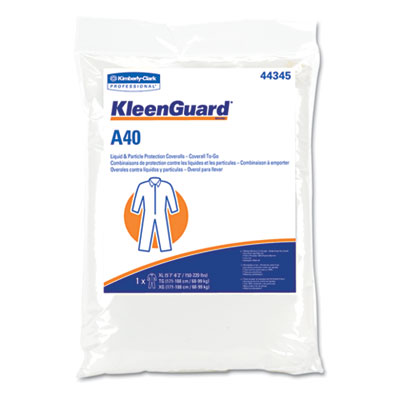 KLEENGUARD A40 Coverall To-Go, Microporous Film Laminate, XXL, White
